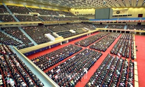 史上初めて開催された全国農業部門分組長大会(朝鮮中央通信=朝鮮通信)