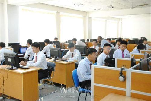 平壌科技大の授業風景