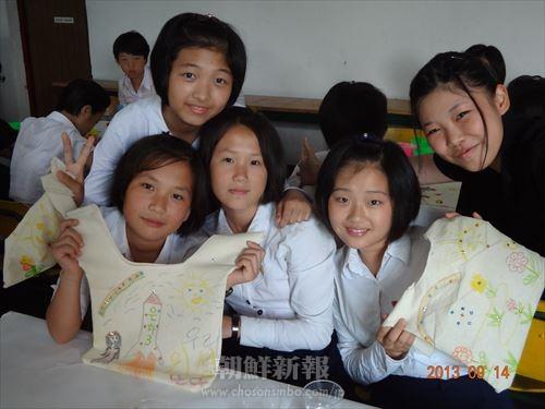 朝鮮大学校短期学部の学生が祖国訪問中に訪れた