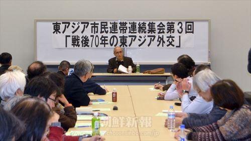 浅井基文さんによる講義の様子