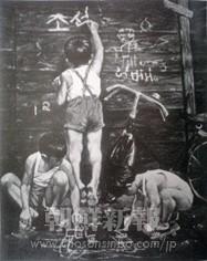 「来年は僕たちの学校へ」1958年 162x130(センチ)朝鮮民主主義人民共和国 美術博物館