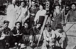 1930年頃の映画撮影の現場