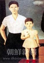 「私も祖国へ」1959年 116.7x91.0(センチ)キャンパスに油彩 朝鮮大学校教育学部美術科蔵