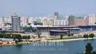 完工を間近に控えた「科学技術殿堂」(9月14日撮影、朝鮮中央通信=朝鮮通信)