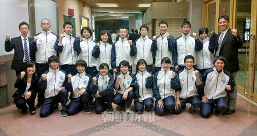 関東大学選手権1部で勝ち抜き、同部史上初の全国大会出場権を獲得した朝大空手道部