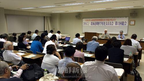 「北海道朝鮮学校を支える会」第13回総会のようす