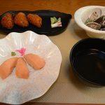 サーモン寿司定食