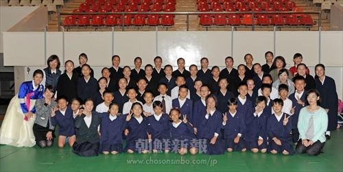美しい声楽を披露した愛知の朝鮮学校児童・生徒と指導者たち
