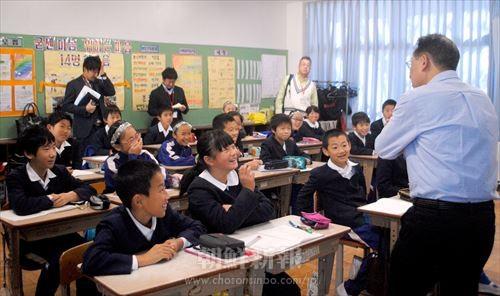 笑顔あふれる授業風景