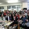 山口初中、日本市民と交流、交流と理解の輪を広げよう、