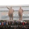 金日成主席と金正日総書記の銅像が除幕