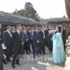 祖国訪問中の青商会代表団、国家行事などに参加