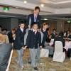 3冠達成の李健太選手を祝う、大阪朝高ボクシング部OB会主催