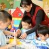 〈教室で〉鶴見朝鮮幼稚園・尹守枝先生