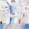 〈子ども美術館-第41回学生美術展 13〉もし体の一部をかえられたら(色鉛筆)