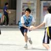 「思いやり」の大切さ学ぶ/東京第4初中、タグラグビー教室