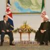 金永南委員長、イラン大統領就任式に参加