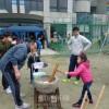 冬恒例の青商会主催の餅つき大会、大阪で