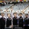 〈世界卓球〉同胞応援団が熱い声援