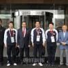 〈世界卓球〉松浪日体大理事長ら、選手団役員を表敬訪問