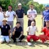 山口県青商会主催の学校支援チャリティーゴルフに208人