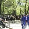 群馬県有地内追悼碑前、強制連行犠牲者追悼式