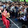 〈平壌プロレスリング国際競技大会〉初訪朝の選手ら、市民とスポーツでふれあう