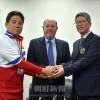 今後の連携強化を約束/世界空手道連盟会長が朝鮮選手団を激励
