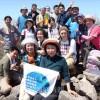 群馬登山協会、今年初の登山/「無償化」募金運動に協力