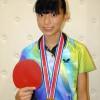 〈学生中央体育大会・卓球〉2年連続「3冠」達成/東大阪中級、金夏那選手