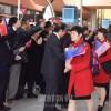 〈女子サッカー・五輪アジア最終予選〉朝鮮選手団が日本到着
