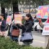 名古屋初級補助金停止に抗議する街頭宣伝