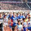 沿道にあふれる笑顔、第28回万景台賞国際マラソン