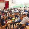 お祭り気分で楽しむ/埼玉初中アボジ会「1日給食」