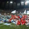 統一願いピッチを駆け抜け/北南労働者統一サッカー、ソウルで