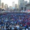 李石基元議員の釈放求め2万人結集/ソウル・光化門広場で集会