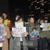 官邸前で金福童・李さん追悼緊急アクション/遺志継ぎ、最後までたたかう