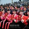 祝福の中、新たな門出迎える/朝鮮大学校第61回卒業式