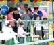 〈ピョンヤン笑顔の瞬間 124〉万景台遊戯場、親子の一コマ