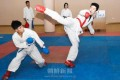 祖国で合同強化練習/朝鮮学校空手道部選手ら