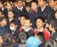 「学校から代表選手、誇らしい」/サッカー朝鮮代表選出の2選手が母校・埼玉初中で報告会