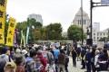 幼保無償化求め、約1400筆の署名集める/朝大生が発言、国会正門前で憲法集会