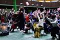 〈全国高校ラグビー〉大阪中高でパブリックビューイング/準々決勝の勝利に生徒、保護者ら喜び爆発