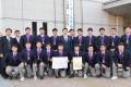 大阪朝高ラグビー部、東大阪市長を表敬訪問