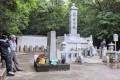 供養塔「松岩菩提」の整備作業/福岡県鞍手郡