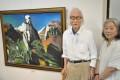 民族情緒と躍動感あふれる作品/在日同胞1世画家・呉炳学さんが絵画展
