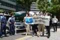 米大使館前で抗議行動/6・15日本地域委と日本の市民団体