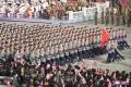 平壌で建国73周年慶祝民間および安全武力閲兵式/金正恩総書記が参席