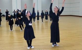 재일조선학생소년예술단의 훈련모습(사진제공 재일조선학생소년예술단)