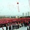 동상제막행사에 참가한 총련대표단
